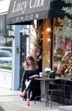 "Lizzie Cundy Seen at her favourite shoe shop, ""Lucy Choi"" in London"