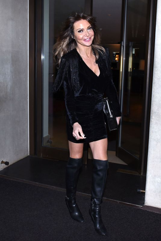 Lizzie Cundy Seen leaving the Mayfair hotel in London