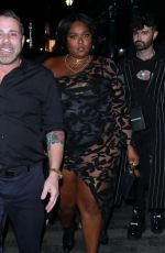 Lizzo At BRIT awards After Party at the BOX night club in London