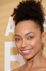 Logan Browning At American Black Film Festival Honors, Arrivals, Beverly Hilton Hotel, Los Angeles