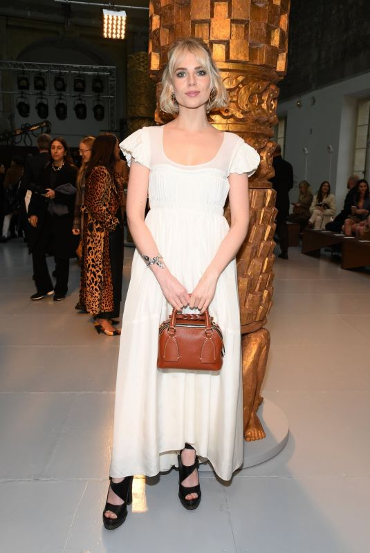 Lucy Boynton At Chloe show as part of the Paris Fashion Week Womenswear Fall/Winter 2020/2021 in Paris