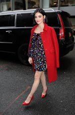 Lucy Hale Arrives at Buzzfeed AM To DM in New York