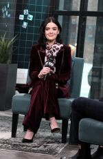 Lucy Hale At AOL Build Series for Katy Keene in NY