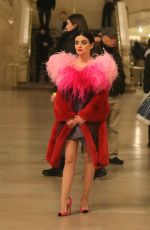 Lucy Hale Filming a scene before wrapping Season 1 production at the Katy Keene set inside Grand Central Station in Midtown