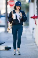 Lucy Hale Leaving a gym in LA