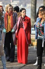 Lucy Hale On the set of Katy Keene in New York