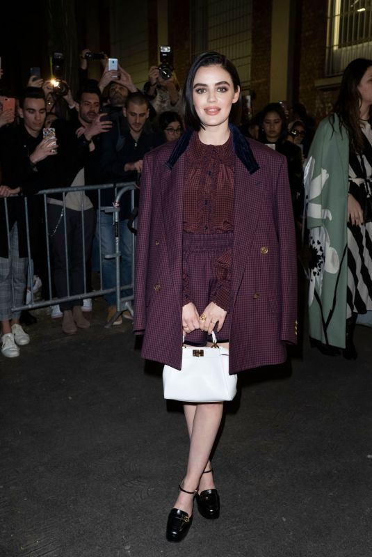 Lucy Hale Outside the Fendi Fashion Show in Milan