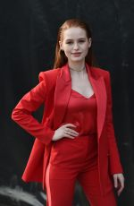 Madelaine Petsch Arriving at the Boss Fashion Show in Milan, Italy