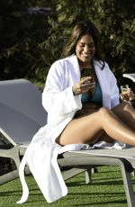Malin Andersson Enjoying a day out at Carden Park Spa in Chester
