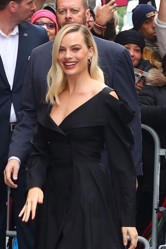 Margot Robbie Arrives at ABC studios in New York
