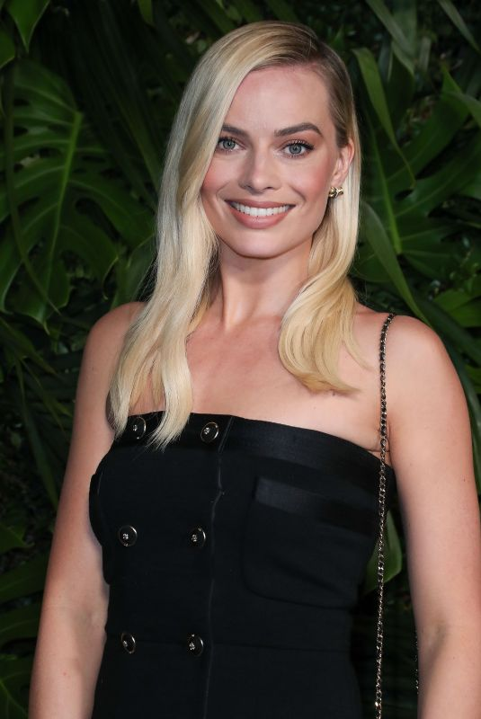 Margot Robbie At Charles Finch and Chanel Pre-Oscars Dinner in Beverly Hills