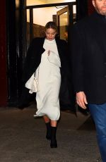 Margot Robbie Leaving after dinner at Carbone in New York