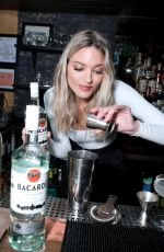 Martha Hunt At Bacardi Employees Go Back To The Bar To Spark Conversations in NYC
