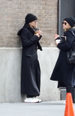 Mary-Kate Olsen and Ashley Olsen are twinning in New York City