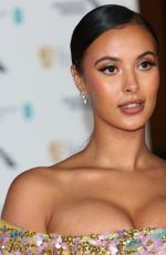 Maya Jama At EE British Academy Film Awards after-party at Grosvenor House Hotel, London
