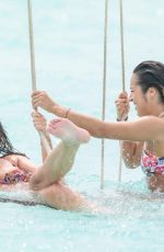 Megan Barton-Hanson and girlfriend Chelcee Grimes -in the Maldives