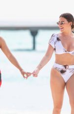Megan Barton-Hanson and girlfriend Chelcee Grimes seen enjoying their holiday in the Maldives