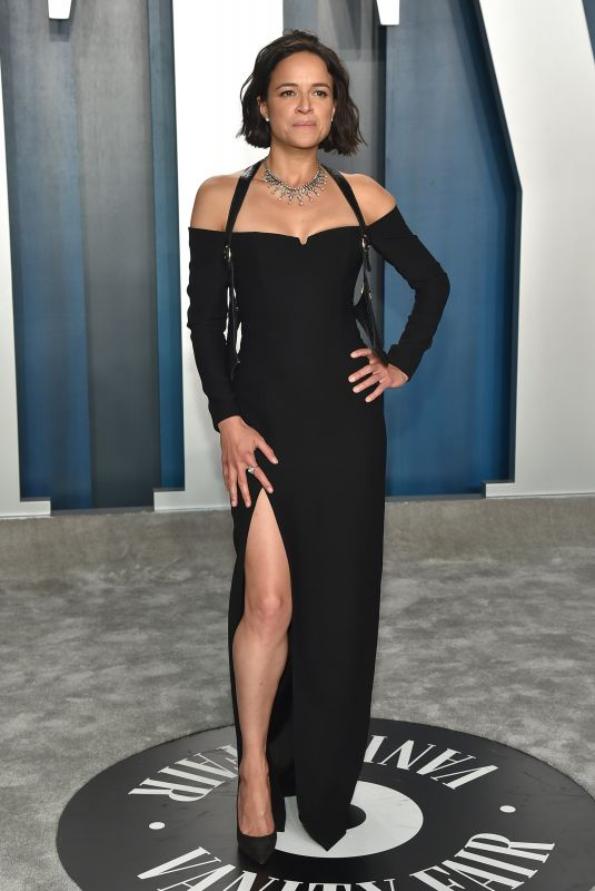 Michelle Rodriguez At Vanity Fair Oscar Party in Los Angeles