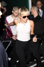 Miley Cyrus Leaving the William Morris Endeavor Pre Oscar party in Beverly Hills