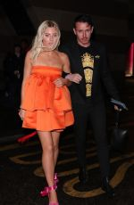Mollie King Attending the BRIT Awards after-party at the Ned Hotel in London