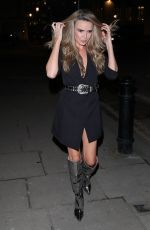 Nadine Coyle Appears to have a bad hair day arrives InTheStyle party in London