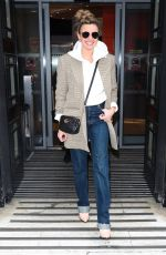 Nadine Coyle Looks stylish in denim pictured leaving BBC studios in London
