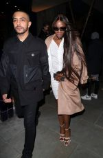 Naomi Campbell Leaving the LFW: LOVE Magazine Party at The Standard in London