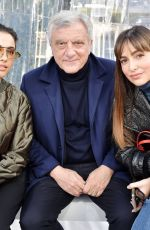 Naomi Scott and guests in the front row Kenzo show, Front Row, Fall Winter 2020, Paris Fashion Week