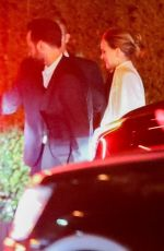 Natalie Portman and Husband Benjamin Millepied are seen leaving a Pre-Oscar Party