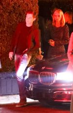 Nicky Hilton Rothschild and husband James Rothschild exit a Pre-Oscar Party at San Vicente Bungalows in West Hollywood