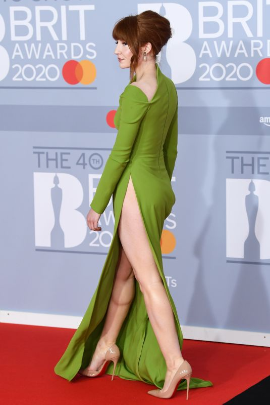 Nicola Roberts At The 40th BRIT Awards at The O2 Arena in London