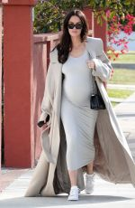 Nicole Trunfio Looks ready to have her baby any day now as she was seen out and about looking chic in LA