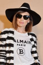 Nieves Alvarez At Balmain show, Front Row, Fall Winter 2020, Paris Fashion Week, France