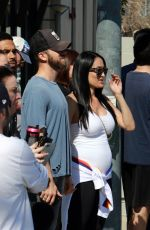 Nikki & Brie Bella Spend a relaxing afternoon at the Farmers Market in Studio City