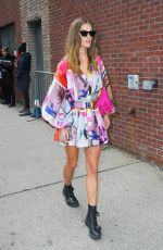 Nina Agdal Arriving at the Zimmerman Fashion Show in NYC