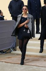 Nina Dobrev Leaving the Dior show in Paris, France