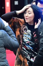 Noah Cyrus Arrives at Global Radio in London