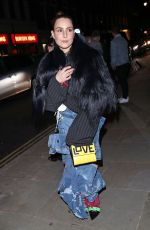 Noomi Rapace Arriving at the Love Magazine Party in London