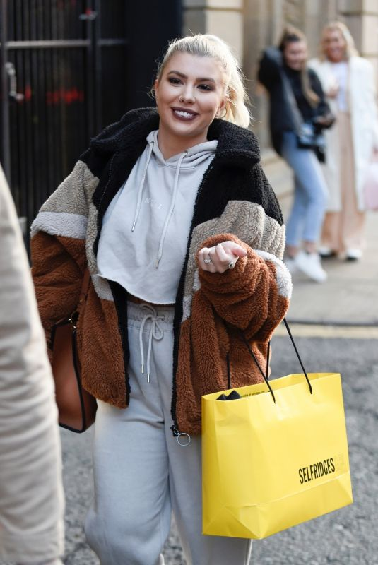 Olivia Buckland scared Laura Anderson by sneaking up on her as they leave filming for George of Asda filming in Manchester