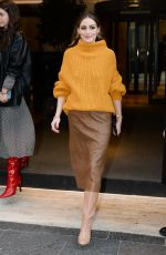 Olivia Palermo Is seen leaving her hotel during Milan Fashion Week