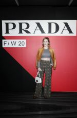 Rachel Brosnahan At Prada Fall/Winter 2020/2021 Womenswear Fashion Show in Milan