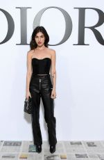 Rainey Qualley At Dior show, Front Row, Fall Winter 2020, Paris Fashion Week, France