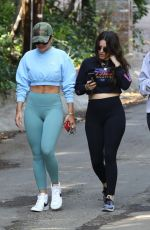 Rita Ora Goes for a hike with friends in Los Angeles