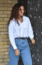 Rochelle Humes Outside the ITV Studios