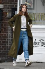 Rose Leslie Picking up some groceries in London