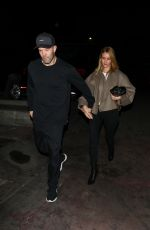 Rosie Huntington-Whiteley and Jason Statham hold hands as they step out for a date-night dinner in Los Angeles