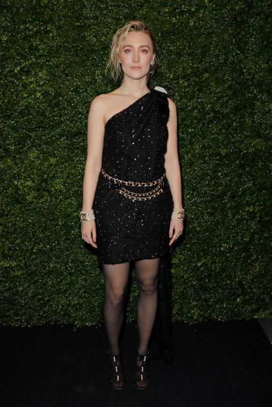 Saoirse Ronan At Charles Finch & Chanel Pre-BAFTA Party in London