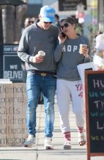 """Selma Blair Wears a """"Hope"""" shirt out to lunch with new boyfriend Ron Carlson at Joan"""