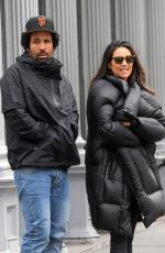 Shay Mitchell Keeps it warm while out on a shopping spree with her boyfriend in SoHo