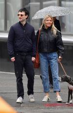 Sienna Miller Goes out for a walk with Tom Sturridge in New York